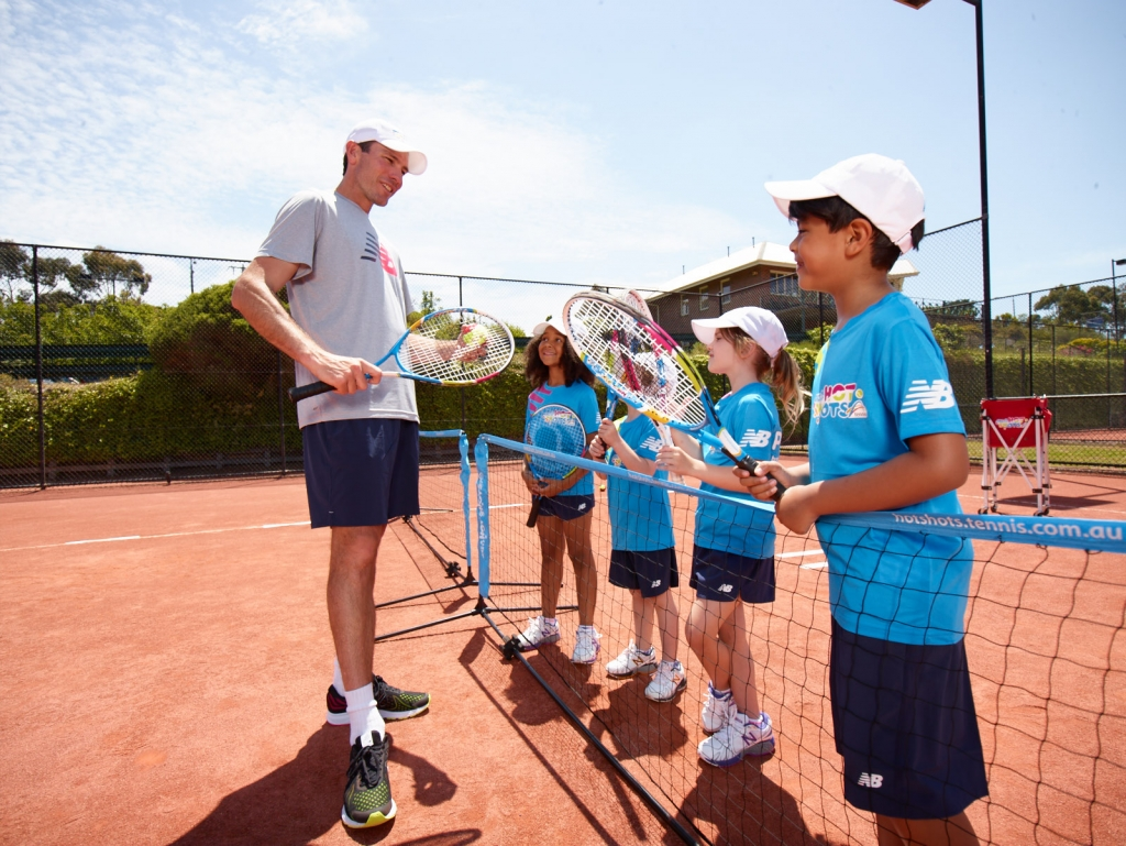 Find your child a tennis coach in your area through ANZ Tennis Hot Shots